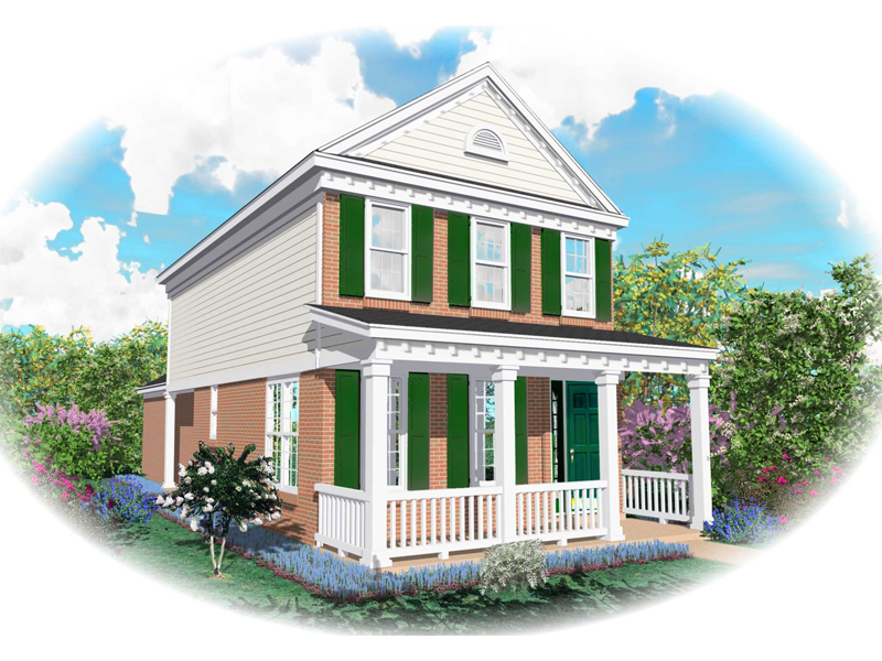 Colonial Country With Amazing Columned Front Porch