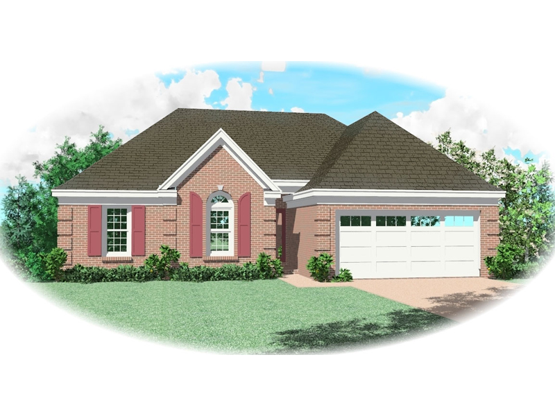 Ranch House Plan Front of Home - 087D-0058 | House Plans and More