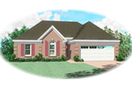 Southern House Plan Front of Home - 087D-0058 | House Plans and More