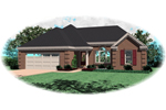 Ranch House Plan Front of Home - 087D-0059 | House Plans and More