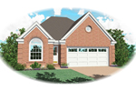 Ranch House Plan Front of Home - 087D-0060 | House Plans and More
