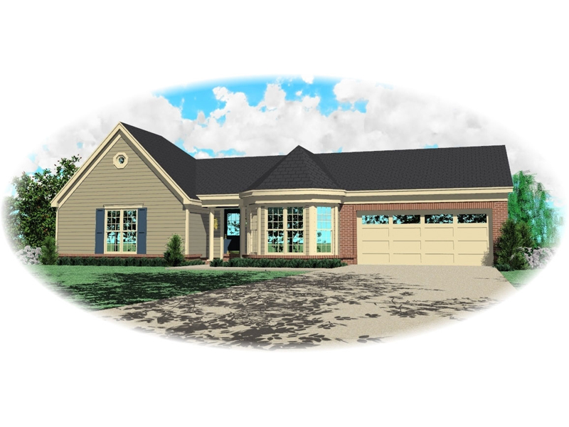 Ranch House Plan Front of Home - 087D-0061 | House Plans and More