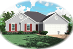 Ranch House Plan Front of Home - 087D-0064 | House Plans and More