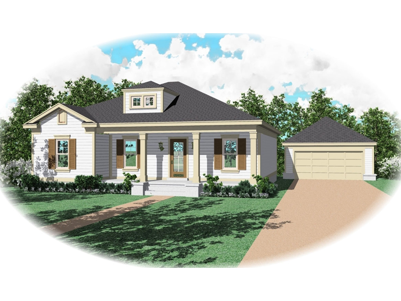 Colonial House Plan Front of Home - 087D-0072 | House Plans and More