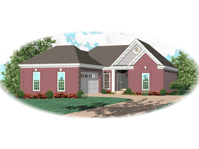 Ranch House Plan Front of Home - 087D-0075 | House Plans and More