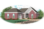 Neoclassical Home Plan Front of Home - 087D-0075 | House Plans and More