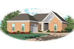 Ranch House Plan Front of Home - 087D-0076 | House Plans and More