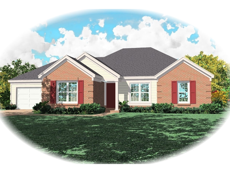Ranch House Plan Front of Home - 087D-0077 | House Plans and More