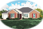Southern House Plan Front of Home - 087D-0077 | House Plans and More