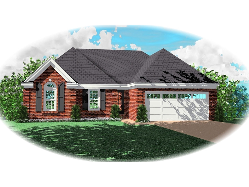 Ranch House Plan Front of Home - 087D-0079 | House Plans and More
