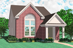 Large Arched Window Adds Immense Curb Appeal To This Narrow Lot