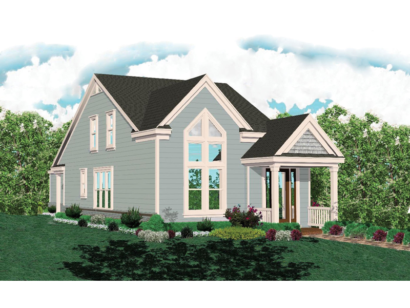 Vacation House Plan Front of Home - 087D-0087 | House Plans and More