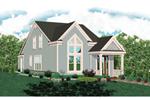 Decorative Window Enhances Façade Of This Home