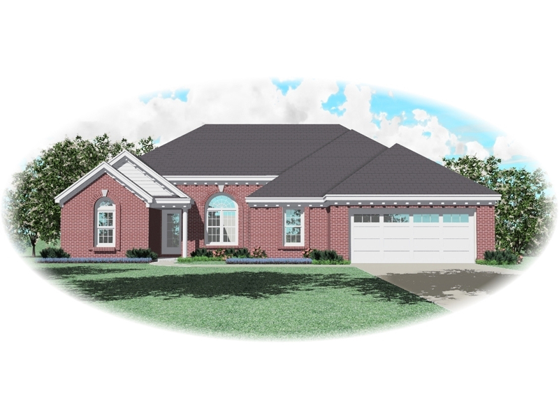 European House Plan Front of Home - 087D-0103 | House Plans and More