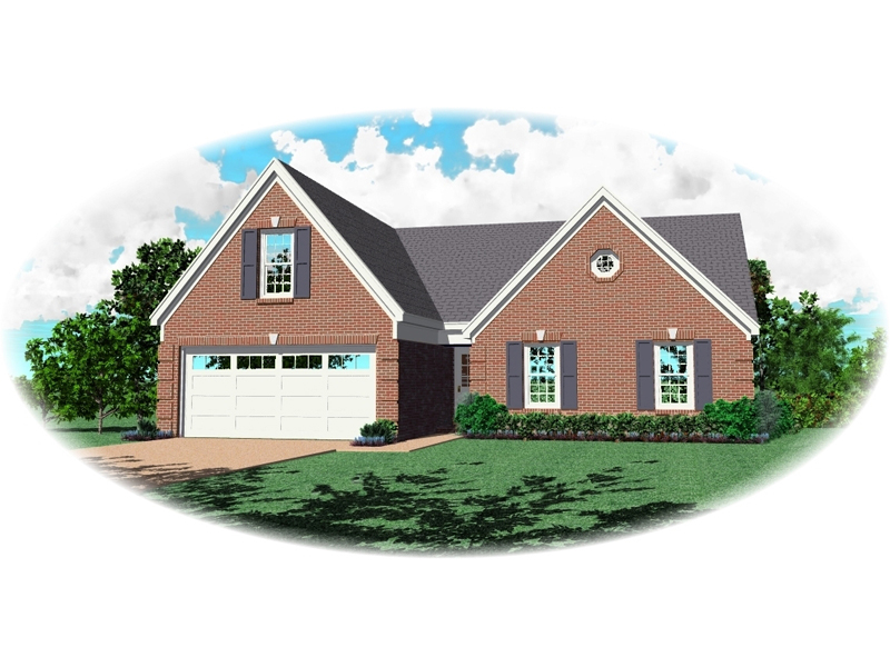 All Brick Traditional Home Designed For Any Neighborhood
