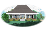 Wrap-Around Porch Gives This Acadian Home Outdoor Space