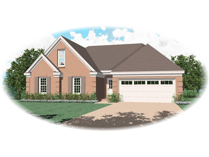 Traditional House Plan Front of Home 087D-0119
