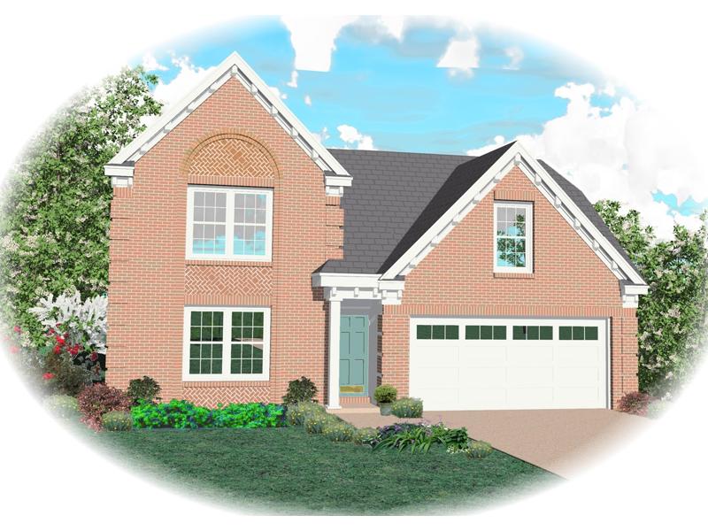 Beautiful Brick Siding Adorns This Narrow Lot Home