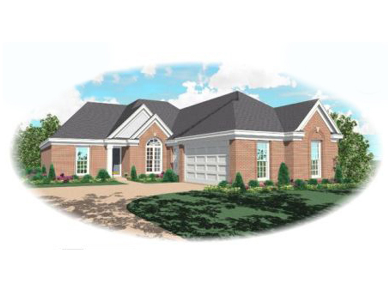 Traditional Ranch Offers A Pleasing Brick Exterior
