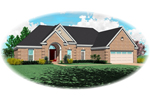 Arched Entry And Brick Siding Gives This Ranch Curb Appeal