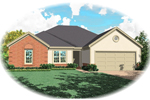 Ranch House Plan Front of Home - 087D-0143 | House Plans and More