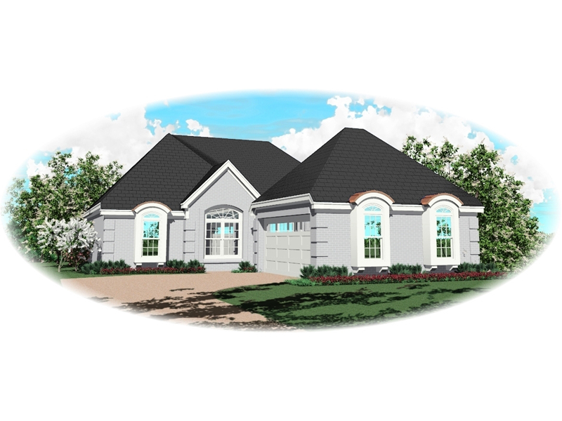 Ranch House Plan Front of Home - 087D-0144 | House Plans and More