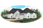 Southwestern House Plan Front of Home - 087D-0144 | House Plans and More