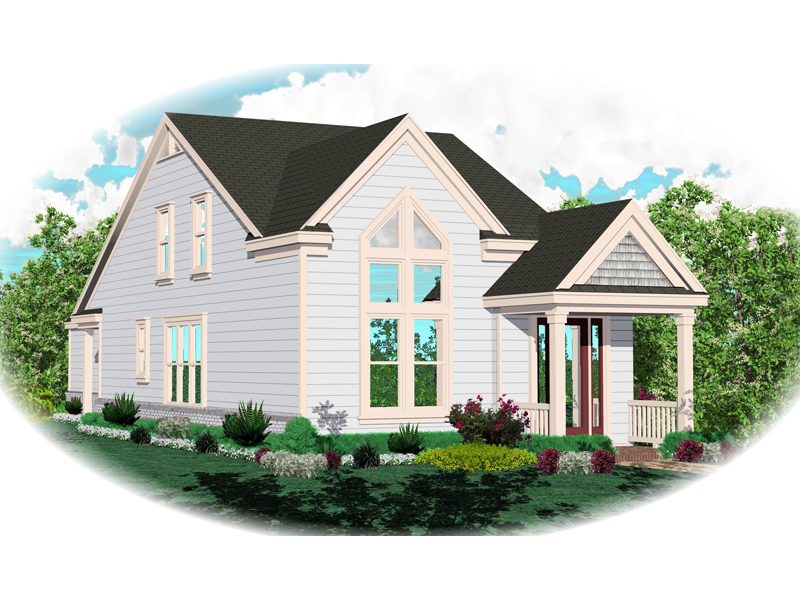 Vacation Home Plan Front of Home - 087D-0146 | House Plans and More