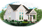 Waterfront Home Plan Front of Home - 087D-0146 | House Plans and More