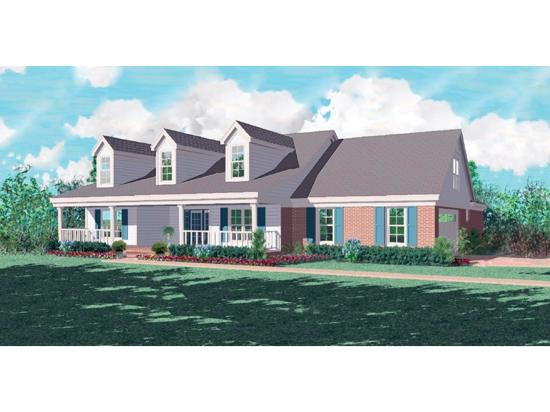Sprawling Country Ranch With Southern Style Dormers