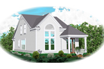 Vacation Home Plan Front of Home - 087D-0148 | House Plans and More