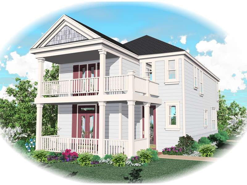 Vacation Home Plan Front of Home - 087D-0149 | House Plans and More