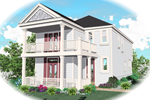 Colonial Floor Plan Front of Home - 087D-0149 | House Plans and More