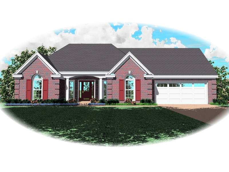 Ranch House Plan Front of Home - 087D-0150 | House Plans and More