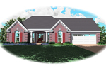 Southern House Plan Front of Home - 087D-0150 | House Plans and More