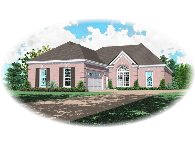 Ranch House Plan Front of Home - 087D-0152 | House Plans and More