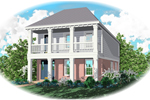 Upper Balcony Provides This Home With Southern Style