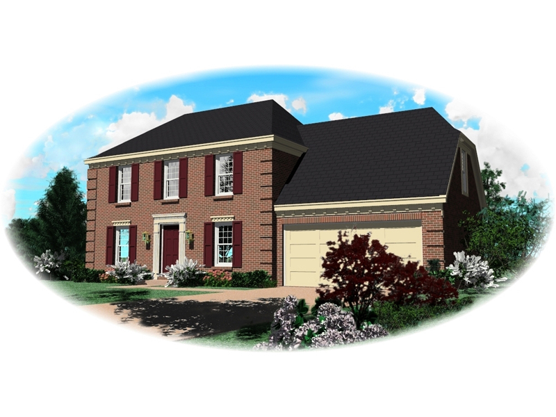 Early American House Plan Front of Home - 087D-0181 | House Plans and More