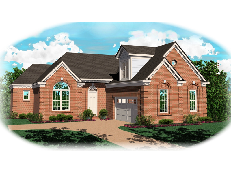 Traditional House Plan Front of Home 087D-0182