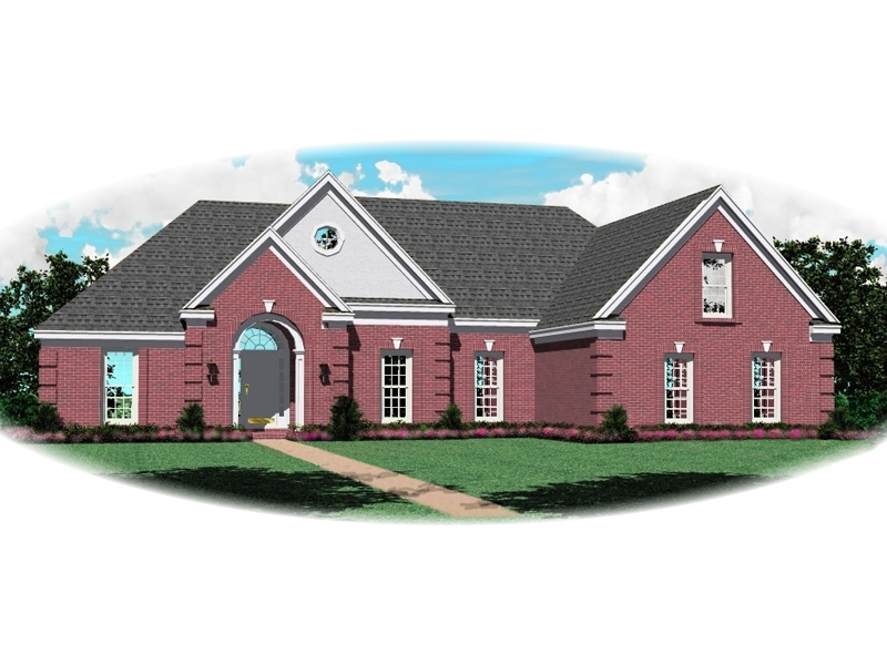 All-Brick Ranch Has Traditional Design