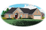 Brick Arched Entry Creates An Appealing Ranch Exterior