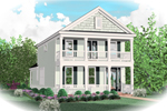 Southern Influenced Two-Story Has Two Covered Porches