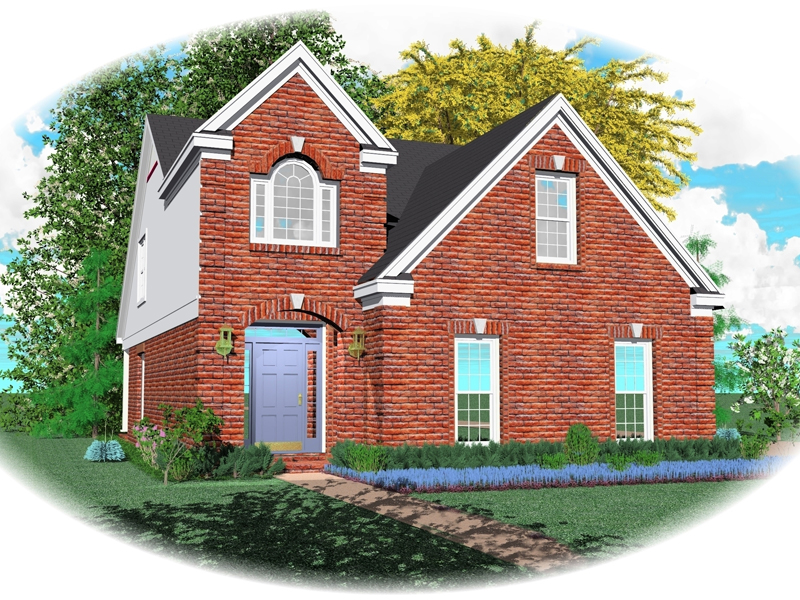 Traditional Brick Home Is Perfect For A Narrow Lot
