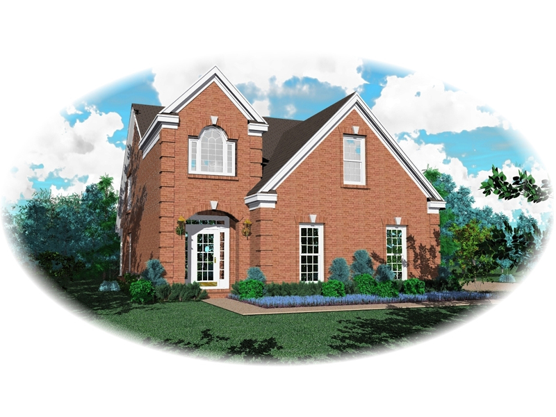 Impressive Brick Home Designed For Narrow Lot