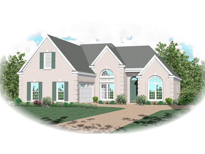 Traditional Home Has Attractive Stucco Siding