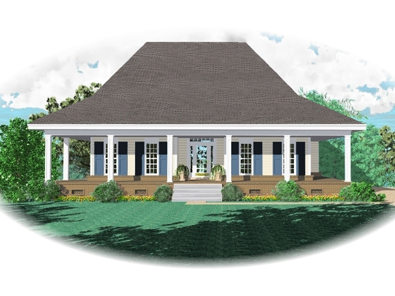 Generous Wrap Around Porch Boasts Acadian Style