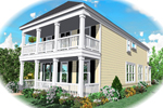 Second Floor Balcony Promotes Southern Style