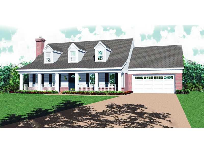 Home Includes Inviting Trio Of Dormers And Covered Porch