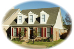 Trio of Dormers Adorn This Ranch Style Home