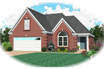 Traditional Style Home Designed For Narrow Lot